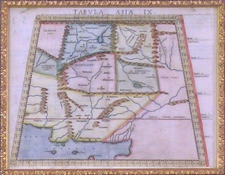 Map Tabula Asiae IX  Pakistan Afghanistan Iran Indian Ocean - Realist Print by Girolamo Ruscelli