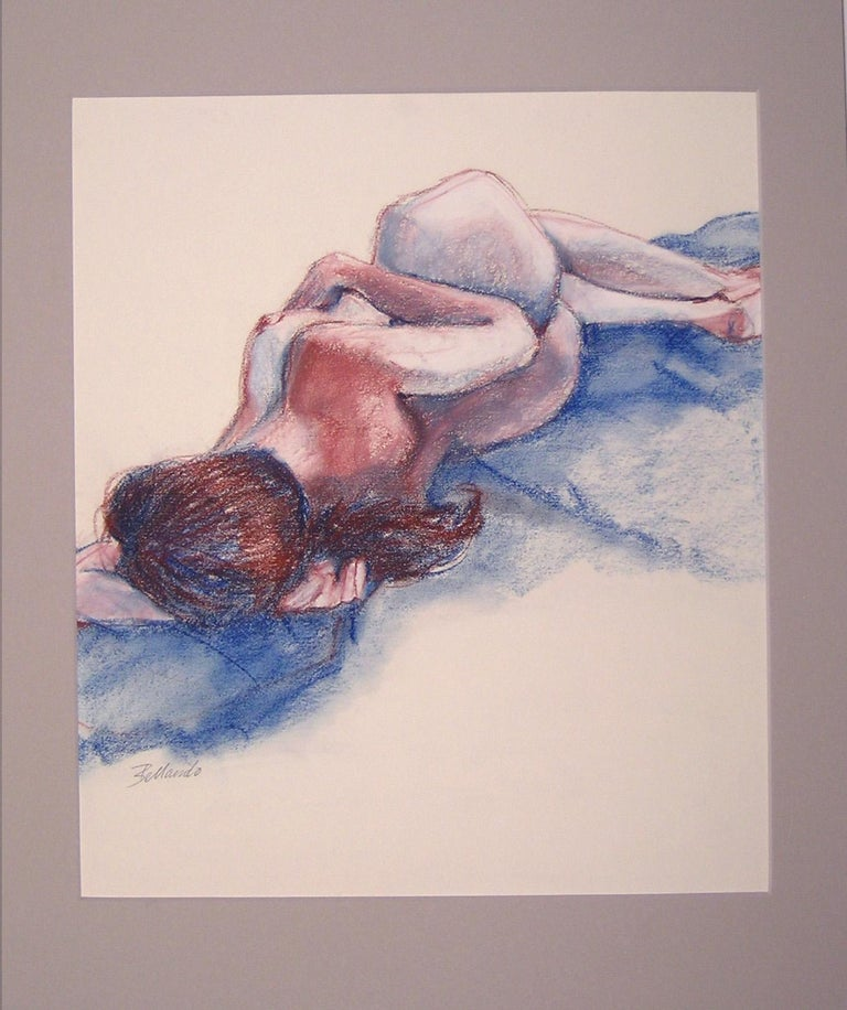 Blue Nude - Art by Gina Bellando
