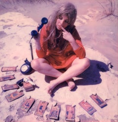 24 hr Psychic Desert Hotline - Contemporary, Polaroid, Photograph, Figurative