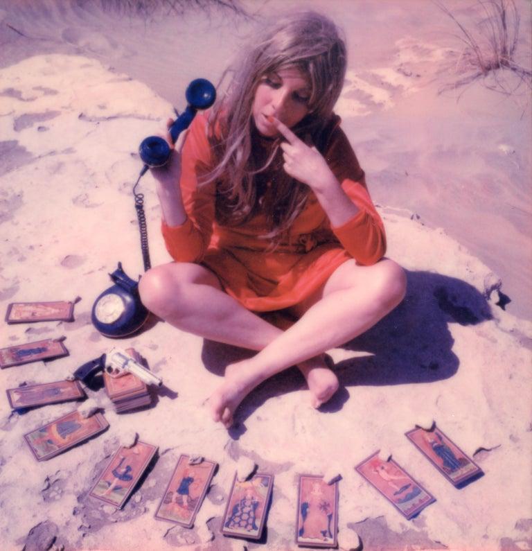 Clare Marie Bailey Color Photograph - 24 hr Psychic Desert Hotline - Contemporary, Polaroid, Photograph, Figurative