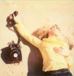 Secretary on the Run - Contemporary, Polaroid, Photograph, Figurative, Portrait