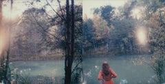 Sunfall - Contemporary, Figurative, Woman, Landscape, Polaroid, Photograph