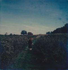 The Open Road - Contemporary, Woman, Polaroid, Photography, Landscape, Color