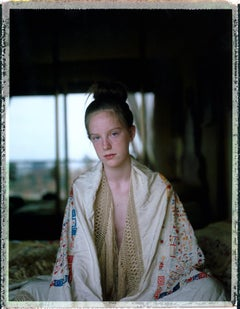 At fourteen with Grandma's Shawl (60x48cm) - Contemporary, Polaroid, Figurative
