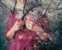 The Heart is where the home is - Contemporary, Figurative, Woman, Polaroid