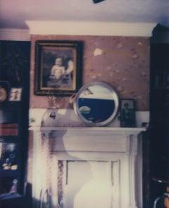 Self-Portrait with Mirror - Contemporary, Woman, Polaroid, Interior