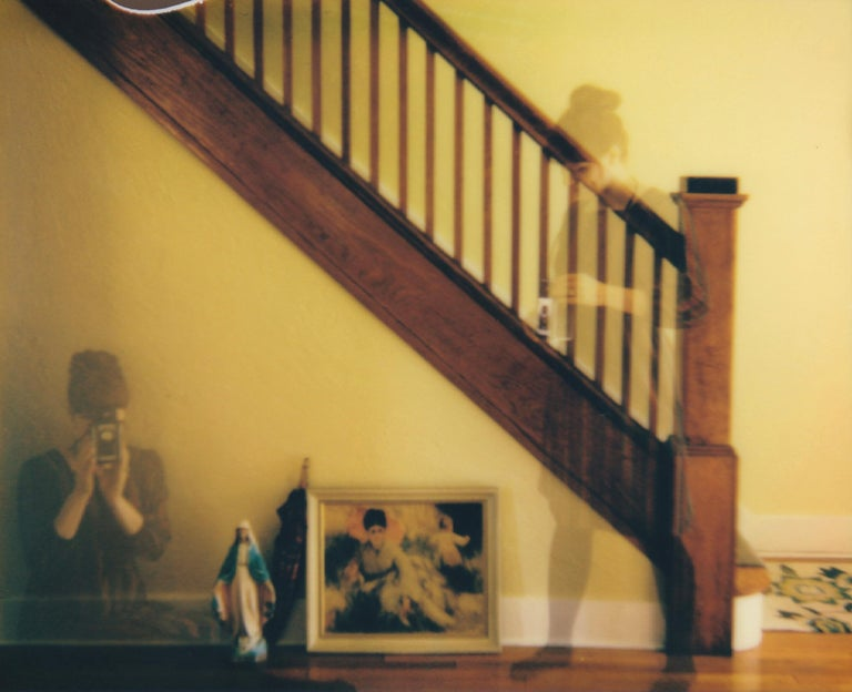 Lisa Toboz Color Photograph - Nesting - Contemporary, Figurative, Woman, Polaroid, Photograph, 21st Century