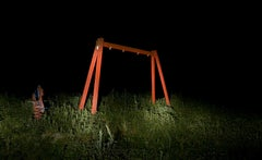 The red Swing - Contemporary, Landscape, 21st Century, Color, Night