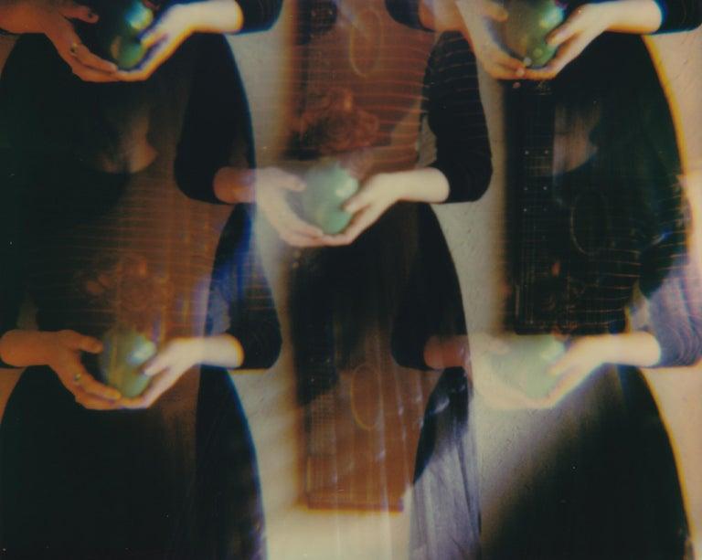 Lisa Toboz Color Photograph - A Gift - Contemporary, Figurative, Woman, Polaroid, Photograph, 21st Century