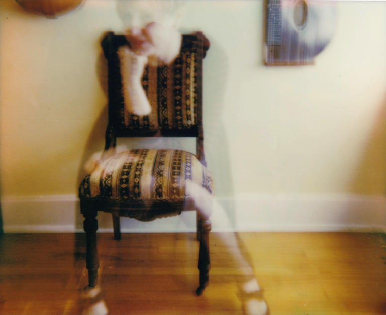 Lisa Toboz Color Photograph - Coming into Focus - Contemporary, Woman, Polaroid, Photograph, 21st Century