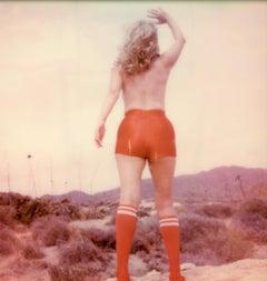 Red Alert (40x40) - Contemporary, Polaroid, Photograph, Figurative, Portrait