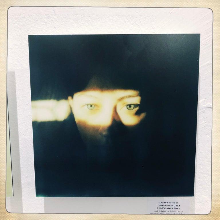 Self-Portrait - Mounted, Contemporary, Polaroid, Color, Portrait - Photograph by Leanne Surfleet