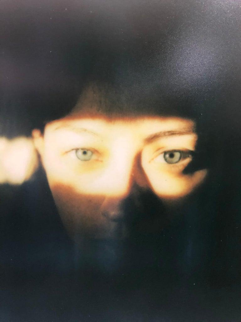 Self-Portrait - Mounted, Contemporary, Polaroid, Color, Portrait - Black Color Photograph by Leanne Surfleet