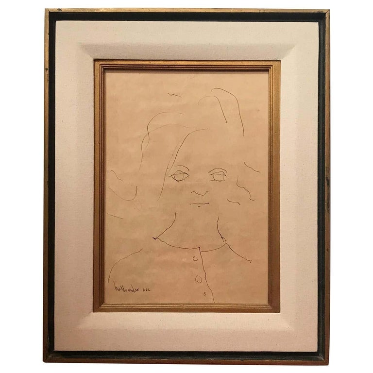 Portrait of a Little Girl Signed Gino Hollander - Art by Gino Hollander