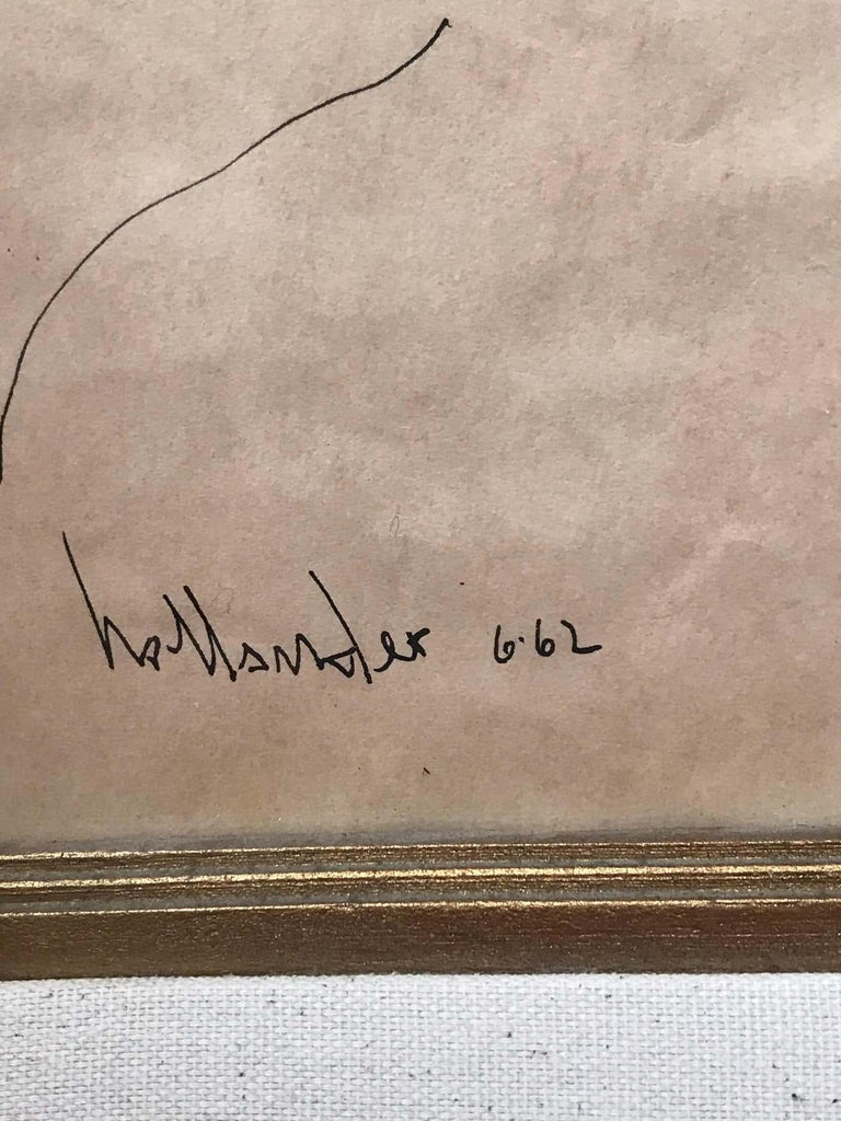 Portrait of a Little Girl Signed Gino Hollander For Sale 1