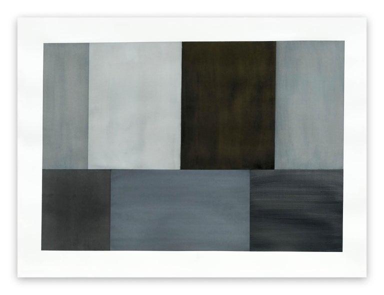 Tom McGlynn Abstract Drawing - Test Pattern 2 (Grey Study)