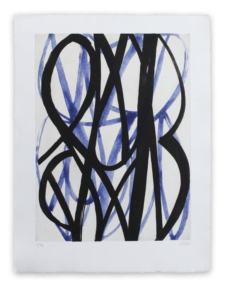 Alain Clément Abstract Print - 13F6G-2013 (Abstract print)