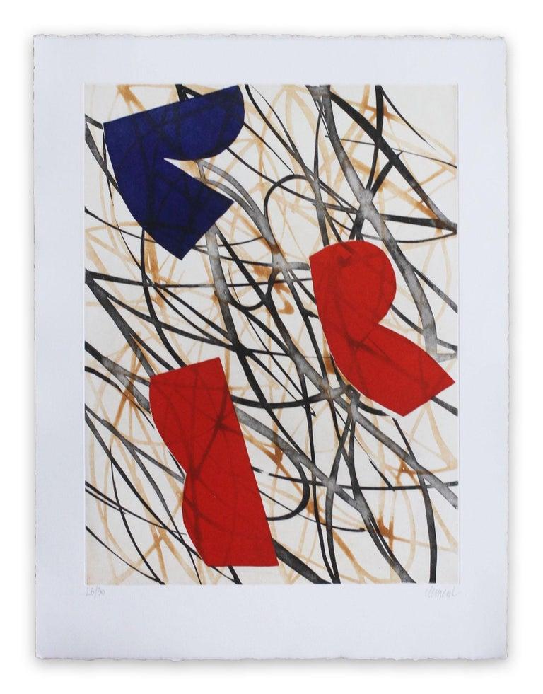 Alain Clément  Abstract Print - 13F1G-2013