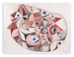 Chambre (Abstract work on paper)