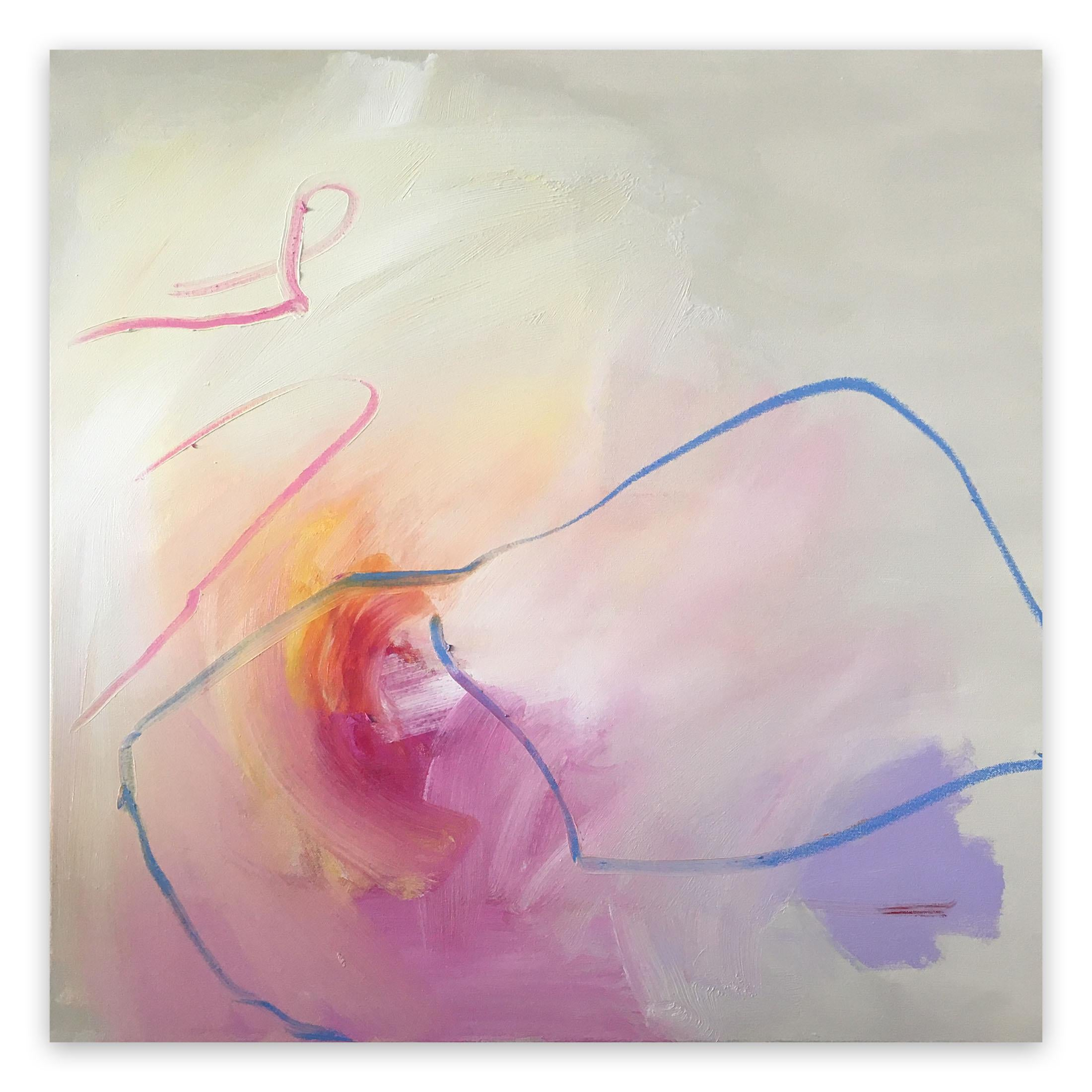 Light Tunnel End #67 (Abstract painting)