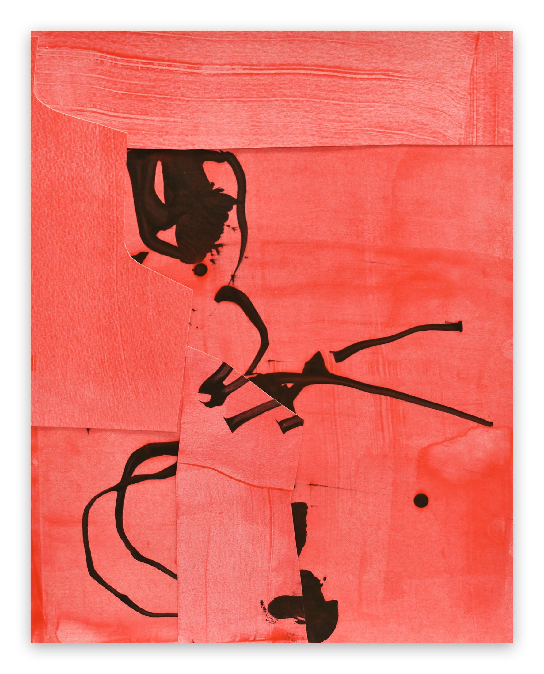Frankly Scarlet 4 (Abstract painting)