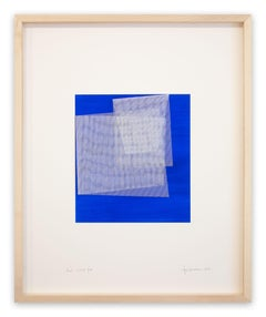 Moiré Cobalt Blue (Abstract painting)