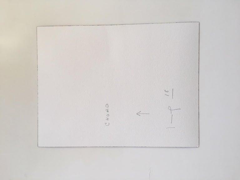 Chord - Blue Abstract Drawing by Kim Uchiyama
