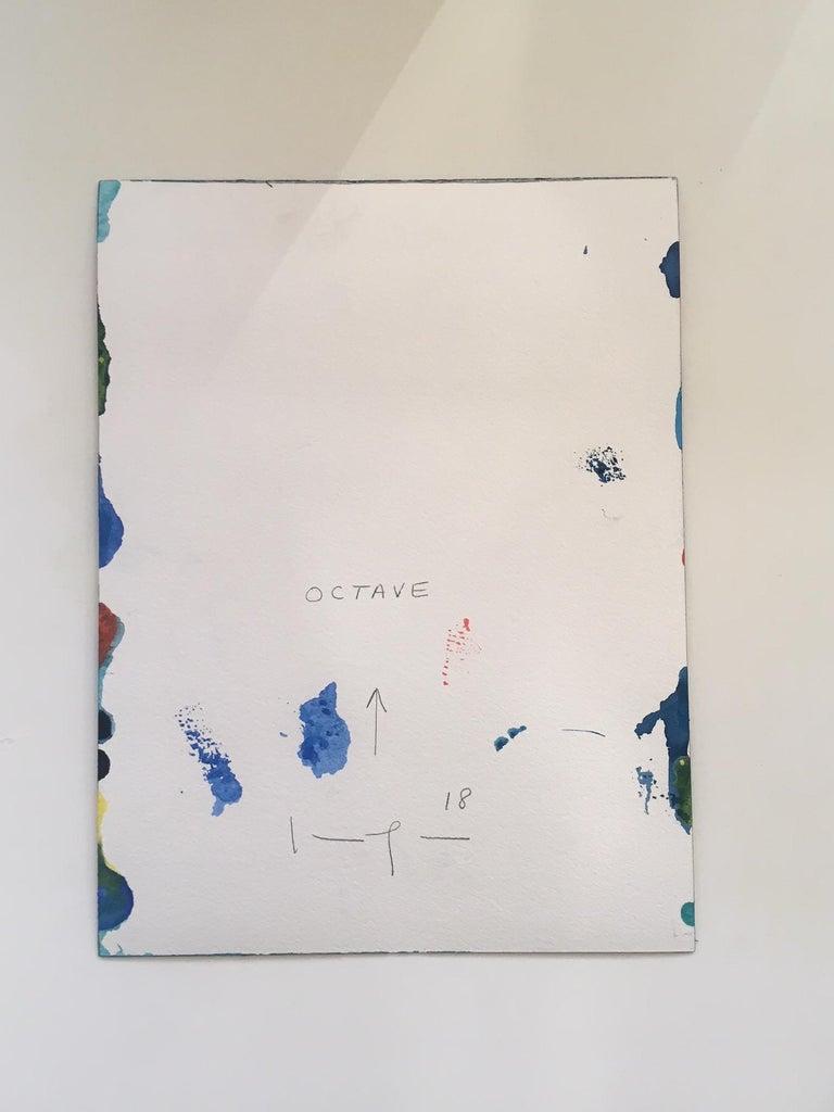 Octave - Blue Abstract Drawing by Kim Uchiyama