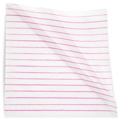 The effects of a fold on a pink line
