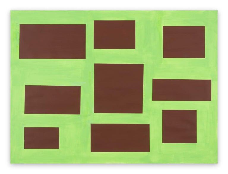 Tom McGlynn Abstract Painting - Survey 4
