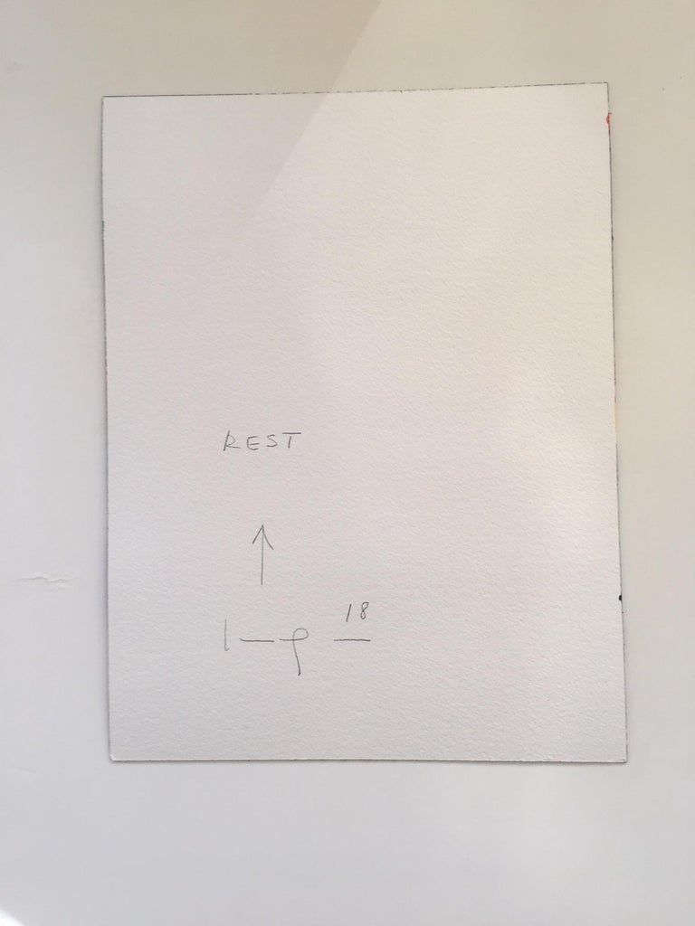 Rest - Blue Abstract Drawing by Kim Uchiyama