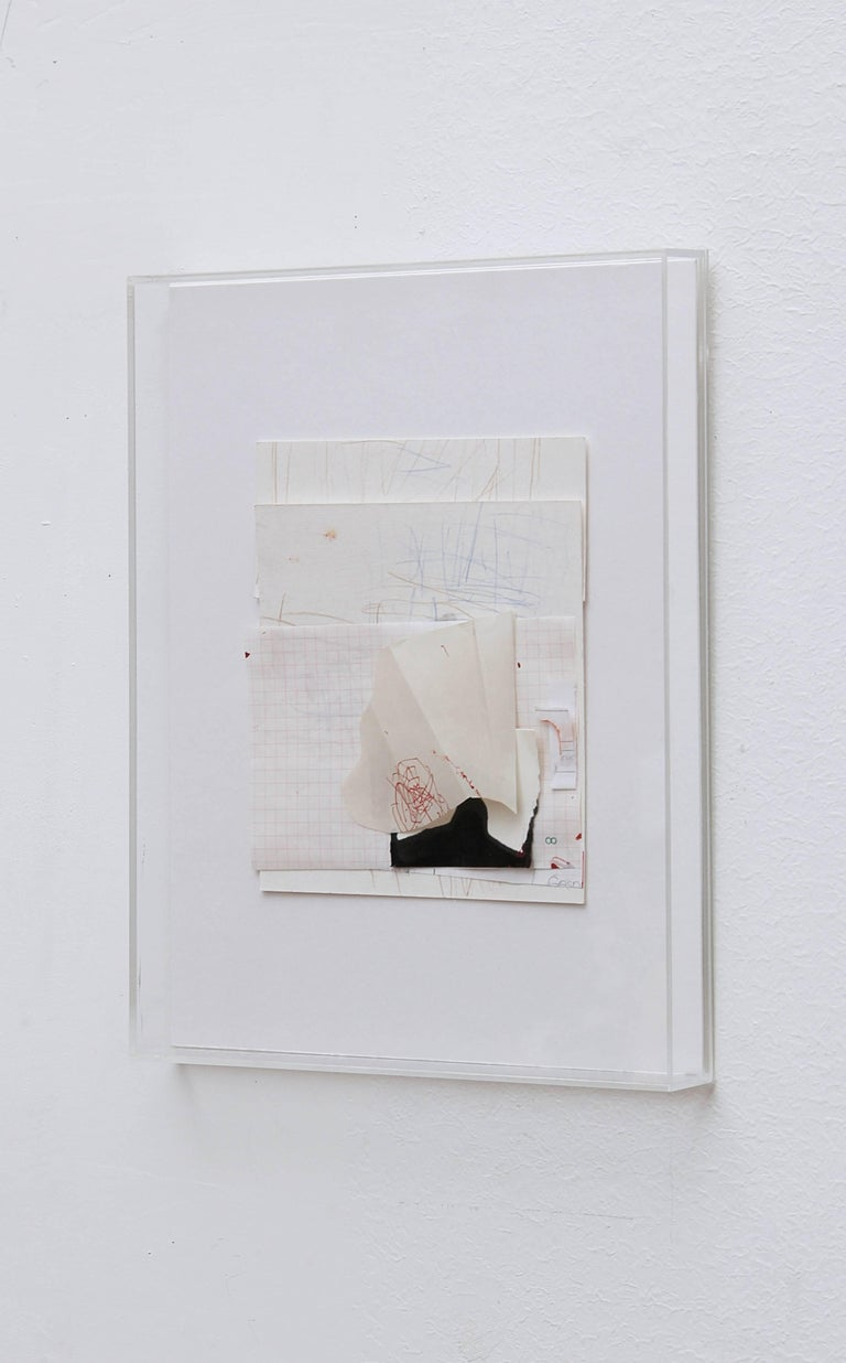 Crayon, ink, collage on paper.  This composition on paper is part of a series of works which have three points in common: their title (which is a date), their relatively small size, and their production process. They can be considered as the very