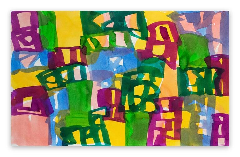 Melissa Meyer Abstract Painting - Ambassade 47