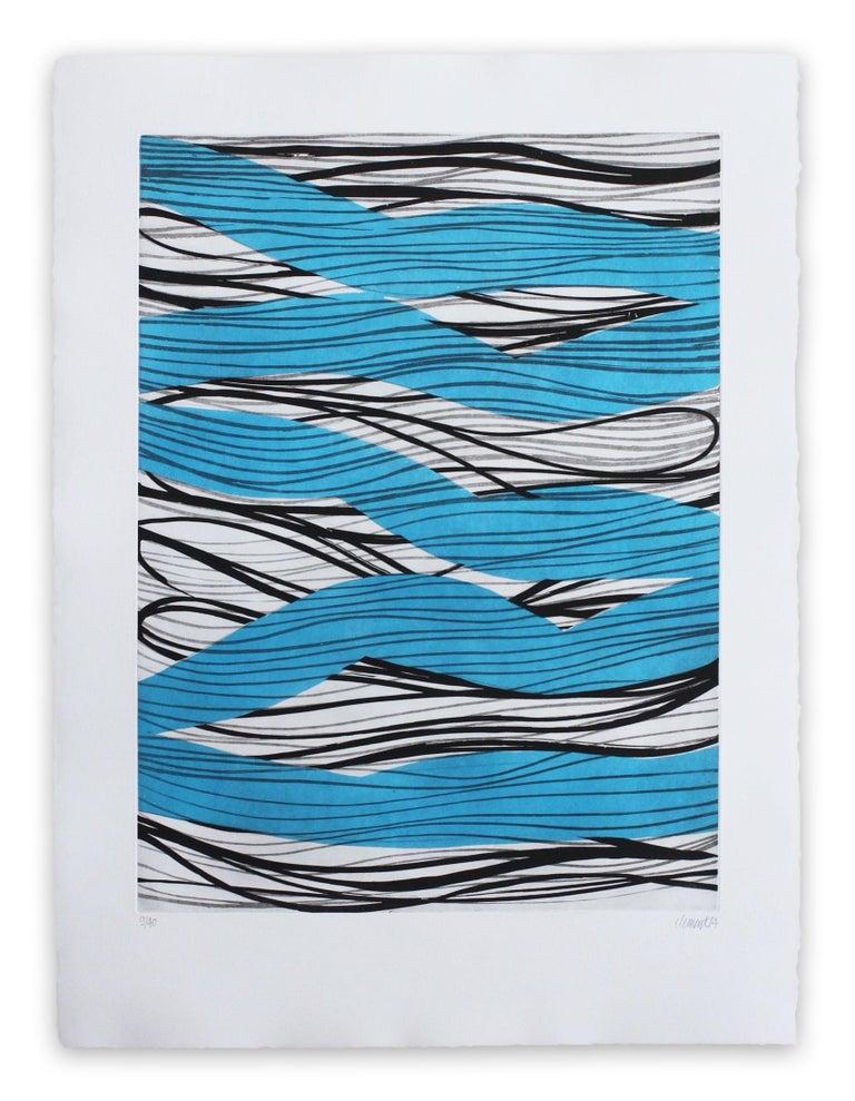 Alain Clément Abstract Print - 14AV8G-2014