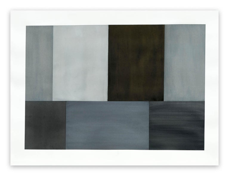 Tom McGlynn Abstract Painting - Test Pattern 2 (Grey Study)