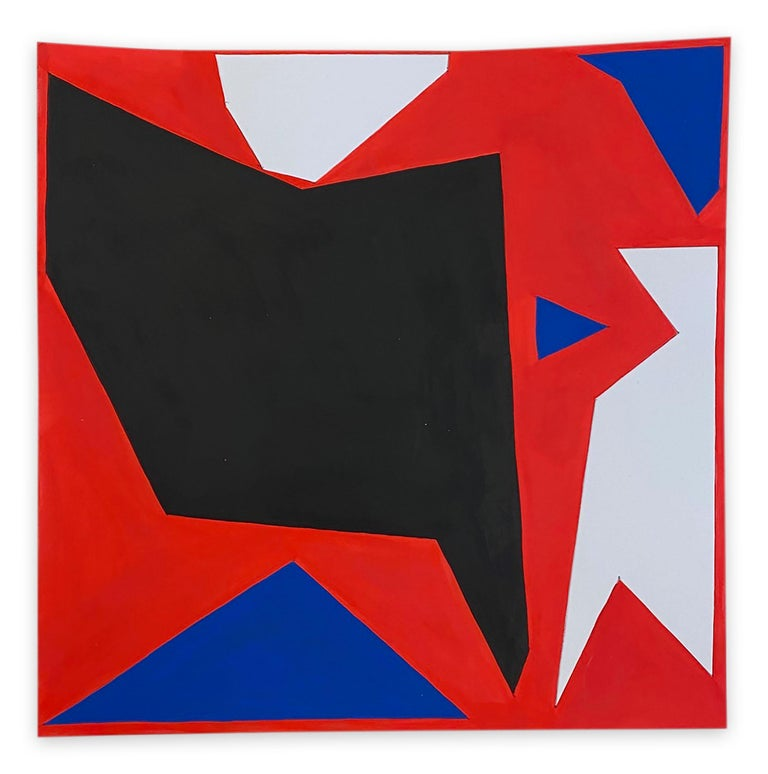 Ulla Pedersen Abstract Painting - Cut-Up Paper 2004