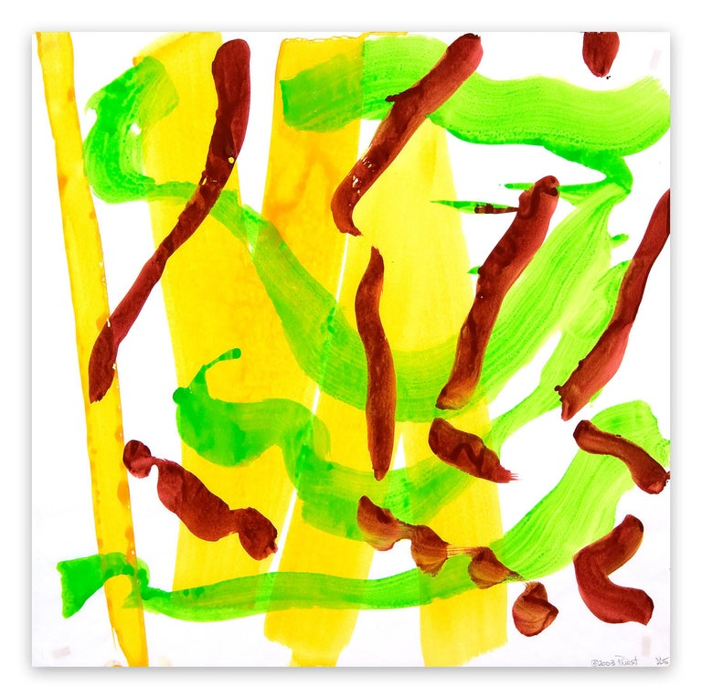 Ellen Priest Abstract Painting - Dolphin Dance 05