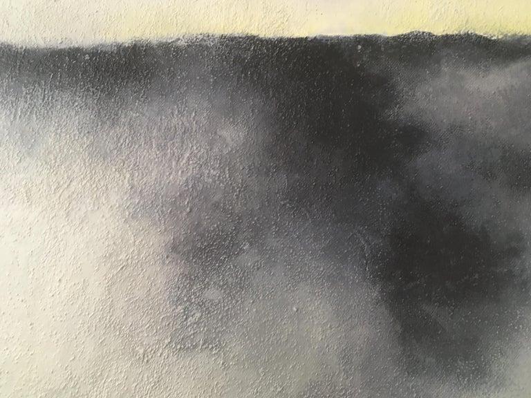 Earth and Rain - Gray Abstract Painting by Francesca Borgo