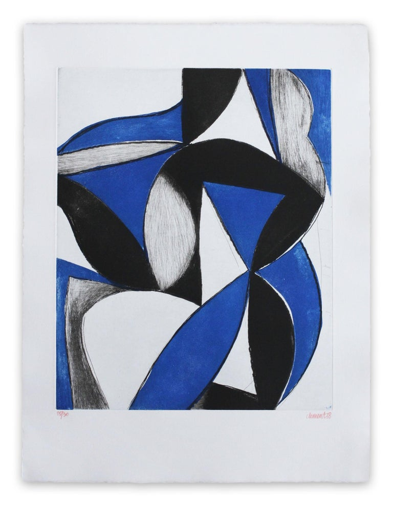 Alain Clément Abstract Print - 18OC1G-2018 (Abstract print)
