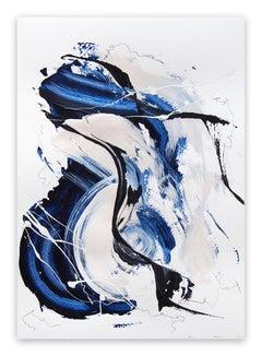 Blue Velvet 4 (Abstract work on paper)