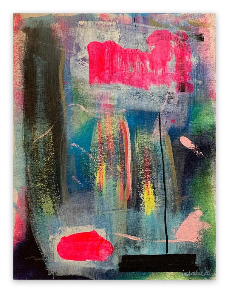 Janin Walter Abstract Painting - Interdependencies (Abstract painting)