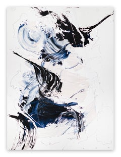 Blue Velvet 8 (Abstract work on paper)