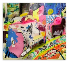 The One With White Couch (Abstract painting)