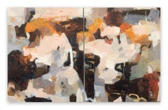 Poetry of life - diptych 2 (Abstract painting)