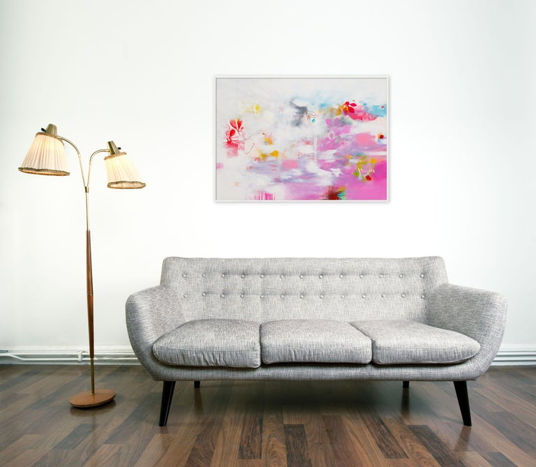 Botanical Painting 2 (Abstract painting) - Gray Abstract Painting by Franko Tencic