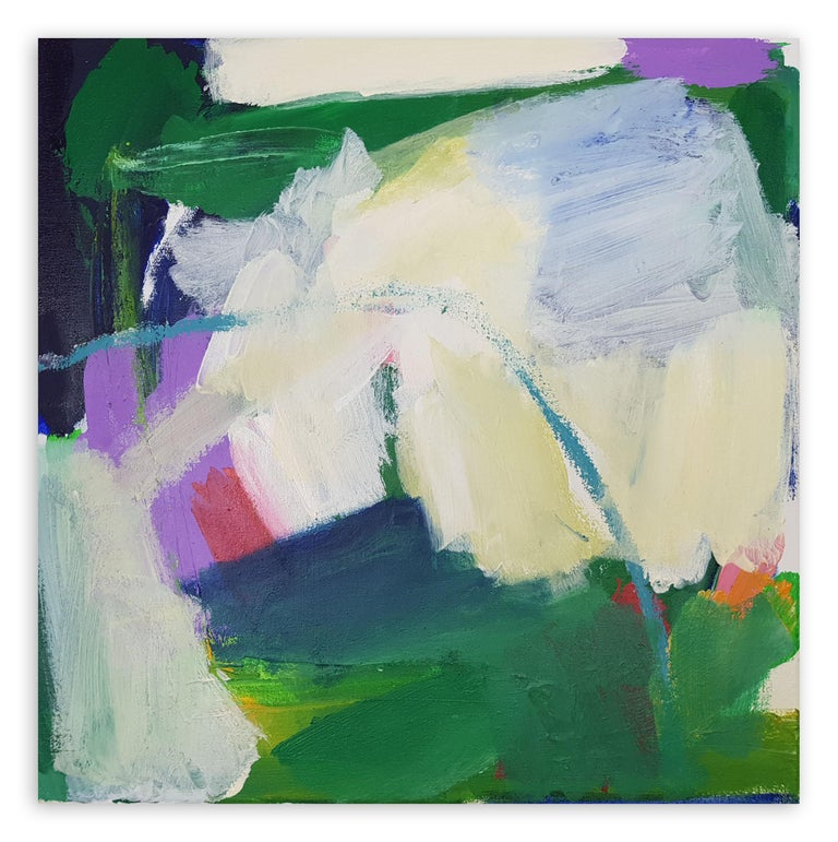 Diana Krinninger Abstract Painting - Green hope (Abstract painting)