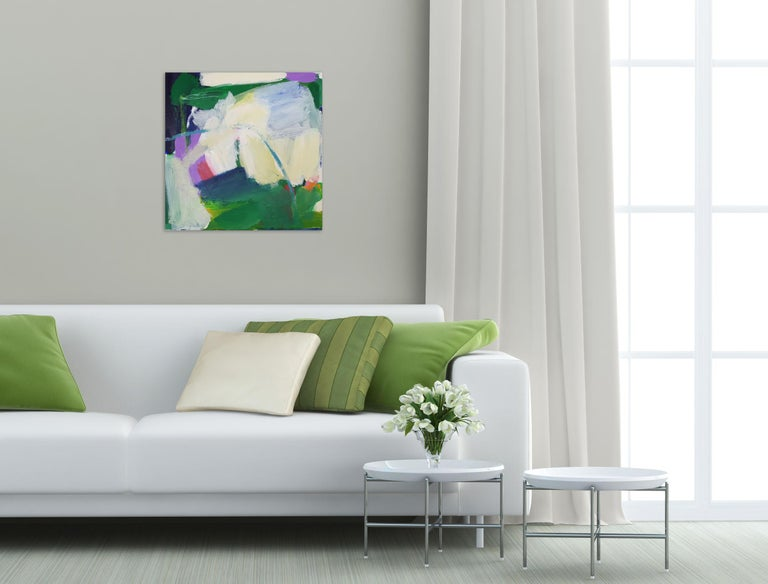 Green hope (Abstract painting) - Painting by Diana Krinninger
