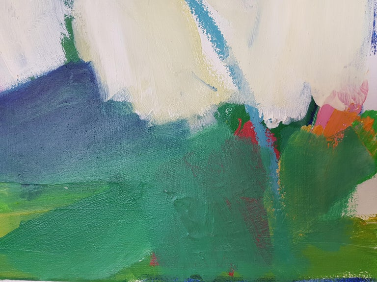 Green hope (Abstract painting) For Sale 1