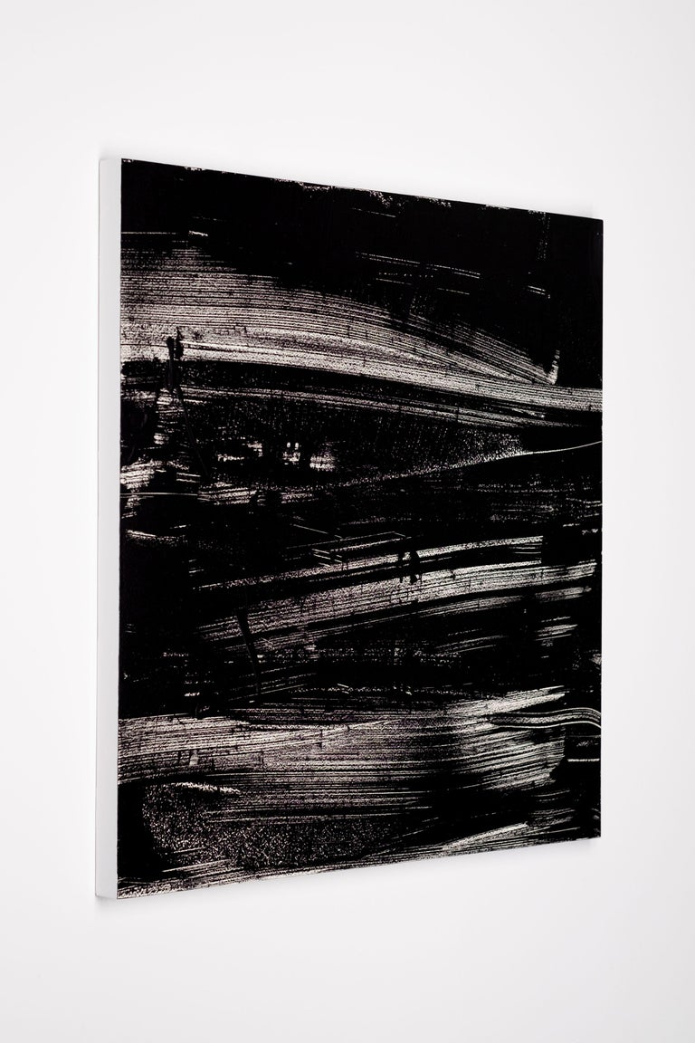 Acrylic on cradled wood panel - Unframed.  This work is exclusive to IdeelArt.  Carson Cartier is an abstract Canadian artist who seeks to unify painting, photography and fashion through his work. His paintings can be read as gestural abstract