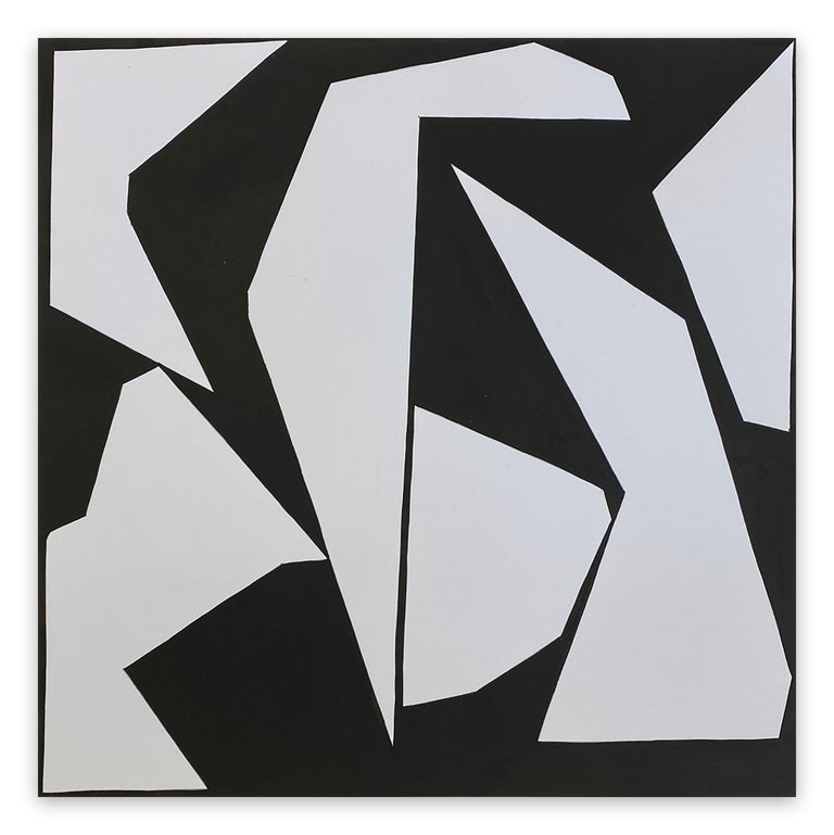 Ulla Pedersen Abstract Painting - Cut-Up Paper 2007 (Abstract painting)